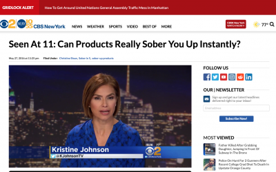 CBS New York, Can products really sober you up? May 27, 2016