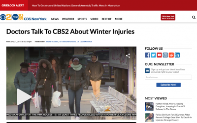 CBS New York, Discussing Winter Injuries: Feb. 21, 2016