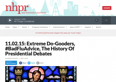 "NH PR, ""Bad flu advice"": Nov. 5, 2015"